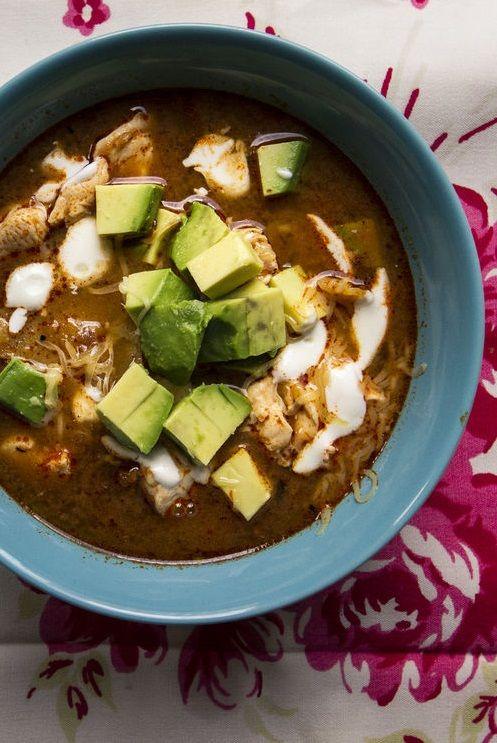 BAYLESS' SOPA AZTECA (tortilla soup) [Mexico] [Rick Bayless] [saveur]