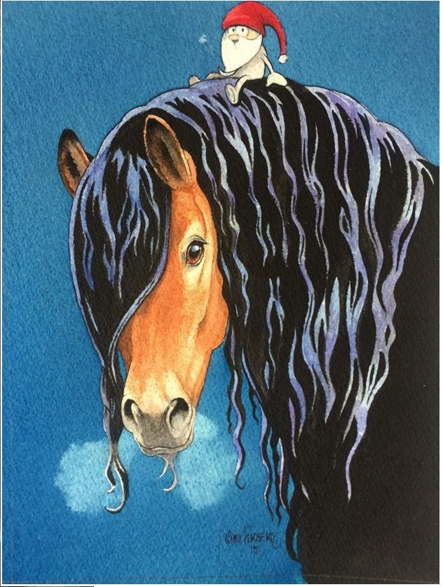 Nordsvensk - Swedish draft horse made by Lena Furberg