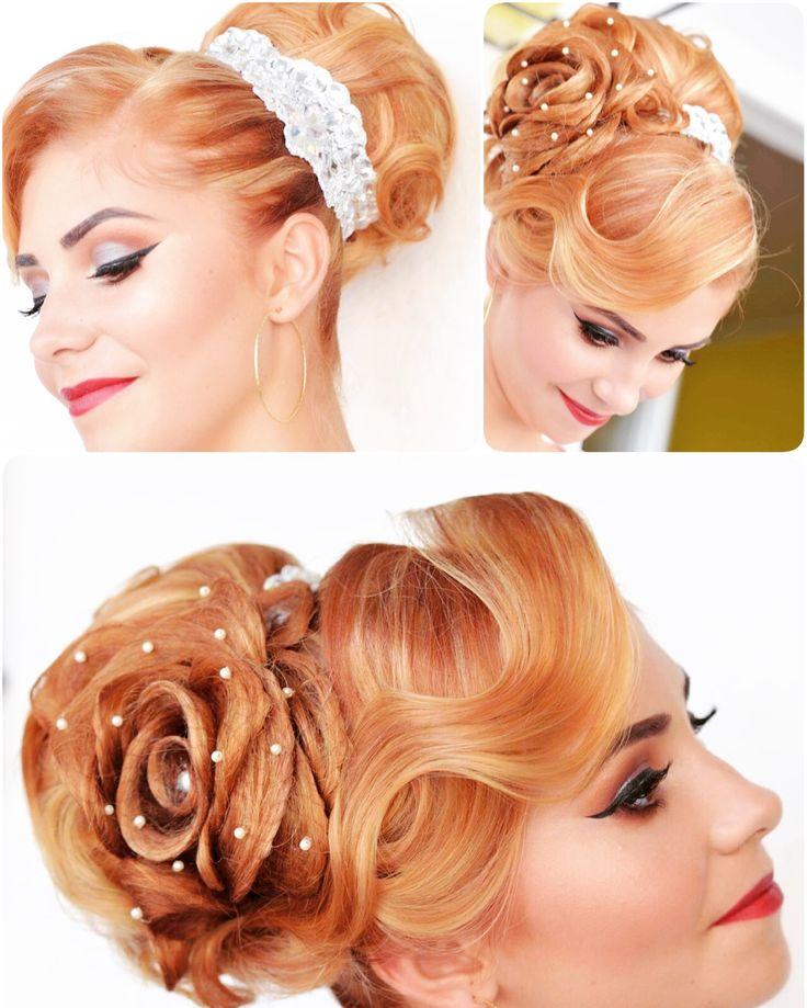 #wedding #Spanishbun  with #rosehair by #AnaLulikova