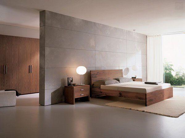 Entre el vestidor y la cama, una división. #IdeasenOrden #minimalismo #decoracion