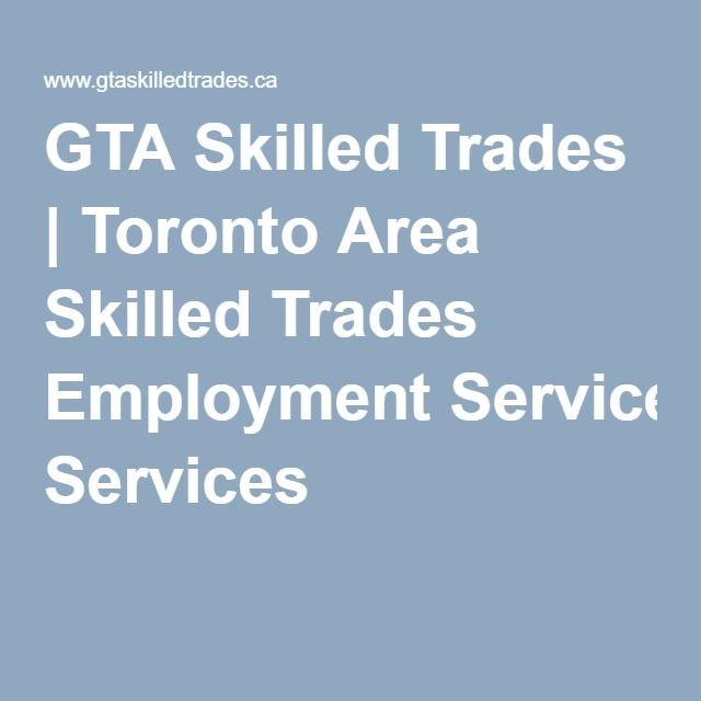 GTA Skilled Trades | Toronto Area Skilled Trades Employment Services