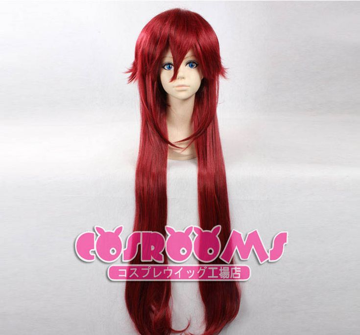 36 inch Long Black Butler Grell Sutcliff Cosplay Wig #cosplaywig #wig