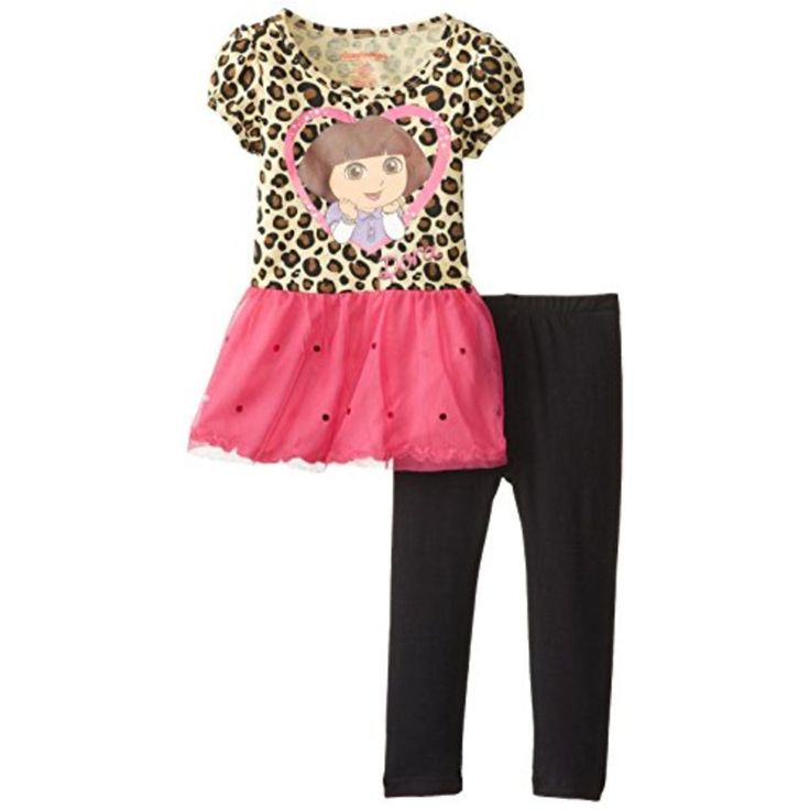 Nickelodeon Girls Animal Print Graphic Pant Outfit