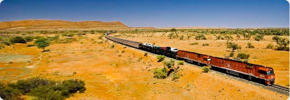 Family Train Trip on 'The Ghan' Southern Rail from Adelaide to Darwin, Australia.