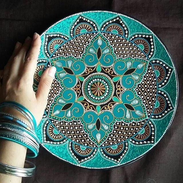Amazing Mandala Plate By @Ba.Alina