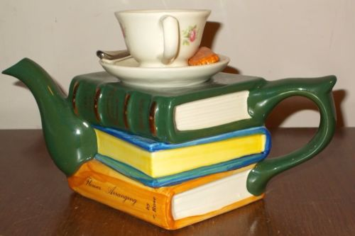 Tony-Carter-novelty-teapot-full-size-cup-of-tea-on-pile-of-books