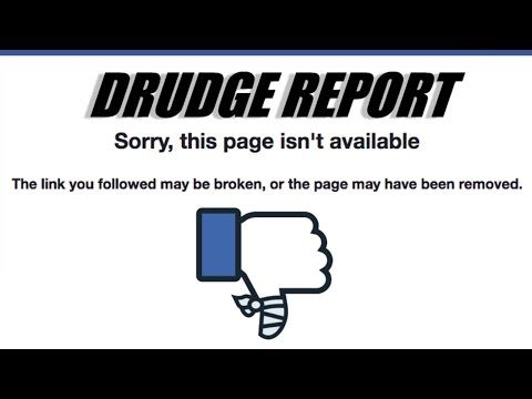 Friends Of Liberty Drudge Report Was Deleted By Facebook Censors There At It