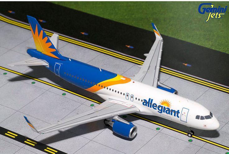 1/200 GeminiJets Allegiant Air Airbus A320-200s Diecast Model