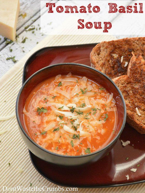 ... Basil Soup | Recipe | Vegetables, Fresh basil and Tomato basil soup