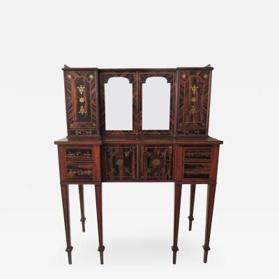 Early 19th C English Regency Coromandel Canterbury Desk