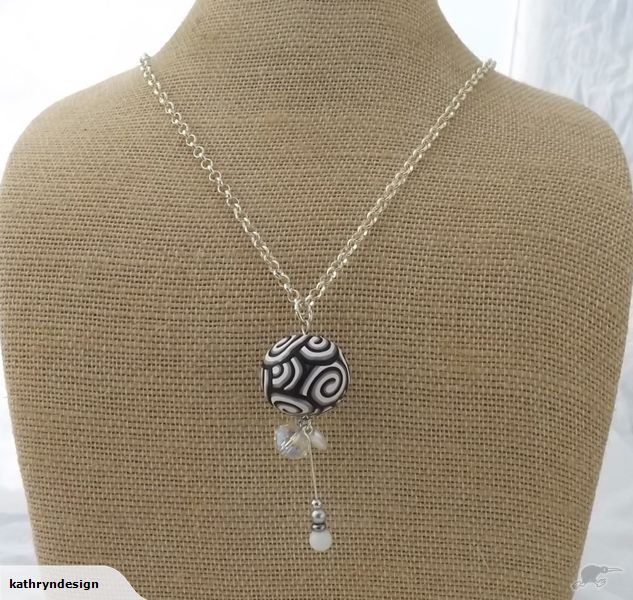 Black & White Long Kathryn Design bead necklace Retails for $20 NZD