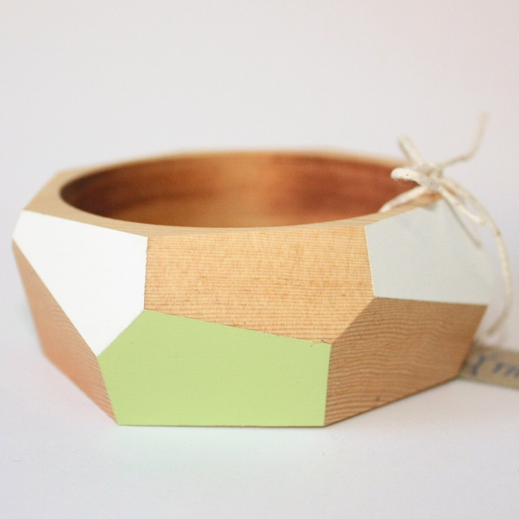 Elinor wood bangle by TreeHorn Design, via Etsy.