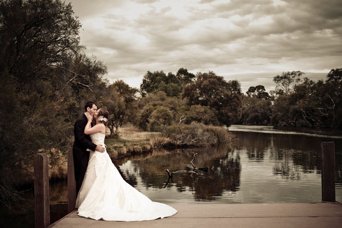 """Perth-based wedding Photographer """"A Woman's Touch"""". Caversham House Landing. I am afraid of finding out what these things cost. (The answer is over $5000 D: eeeesh)"""