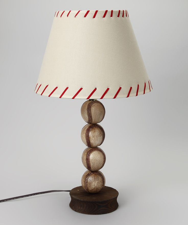 Loving this White Stacked Baseball Lamp on #zulily! #zulilyfinds