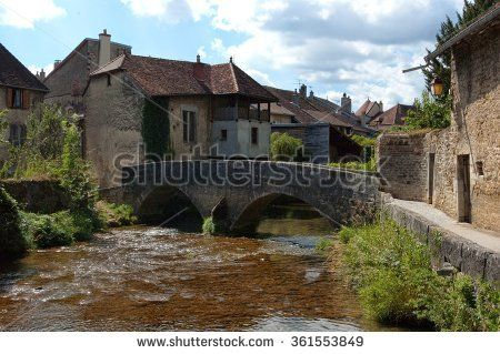 Old bridge in Arbois, France