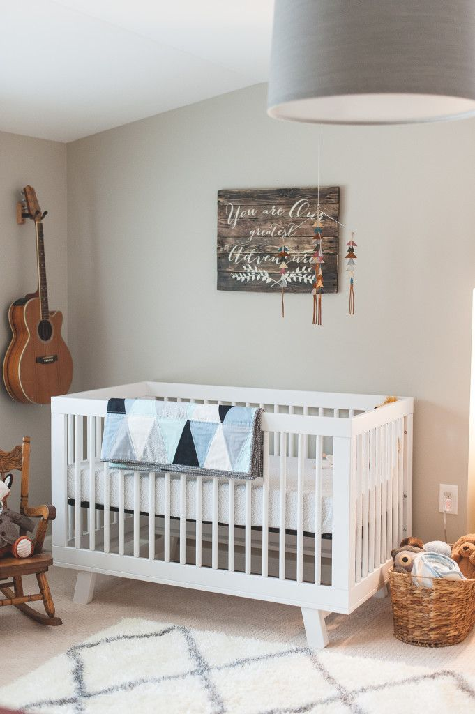 Modern Vintage Nursery - love the mix of old and new in this sweet baby room! Liapela.com