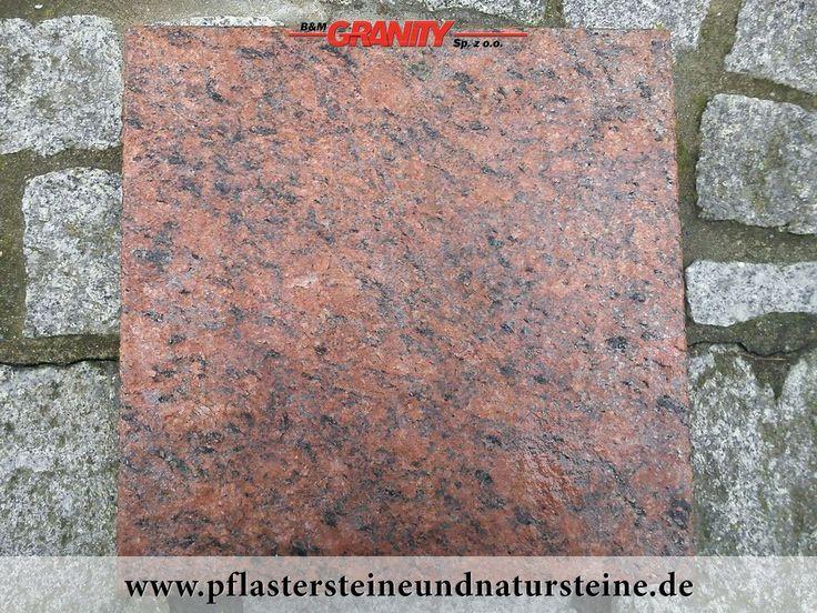 Firma B&M GRANITY bietet diverse Steinplatten an. Platten können so… unterschiedlich (Farbe, Form, Bearbeitungsmethode) sein…Diesmal – sehr schöne, frostbeständige Platten aus schwedischem, rotem Granit - Vanga. Man kann auch mit diesem Stein andere Natursteine wunderbar zusammenbauen und zusammenstellen.   http://www.pflastersteineundnatursteine.de/fotogalerie/platten/