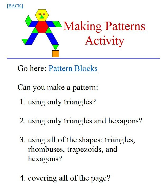 Patterns: drag shapes to create a pattern