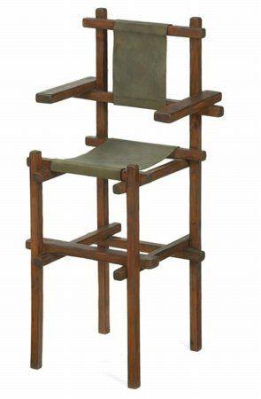 De Stijl, Children, and Constructivist Play - Gerrit Rietveld - High Chair, 1919