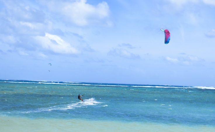 Kite Surfing   in Le Morne  Mauritius