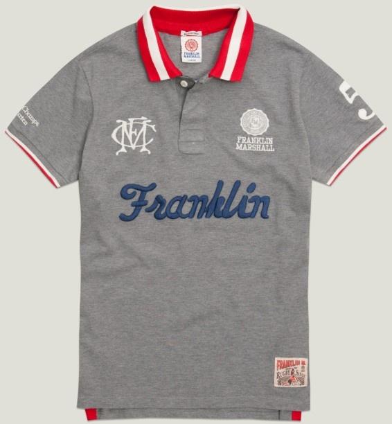 Men's polo shirt grey melange   Polo   Man   Collection   Franklin