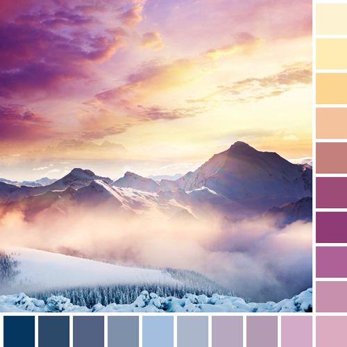 landscape orange featured blue pink purple colors nature yellow sunset light blue square dark blue color palette light purple ligh pink