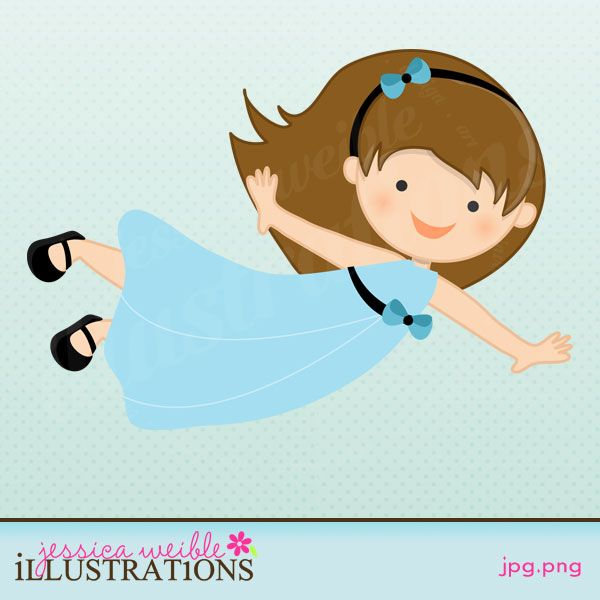 Flying Girl in Nightgown CUTE!