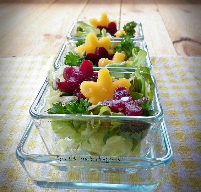 Salata cu dovleac si sfecla rosie  Pumpkin and beetroot salad
