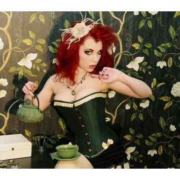 Forest Faerie Overbust Corset Halloween SALE by corsetwonderland