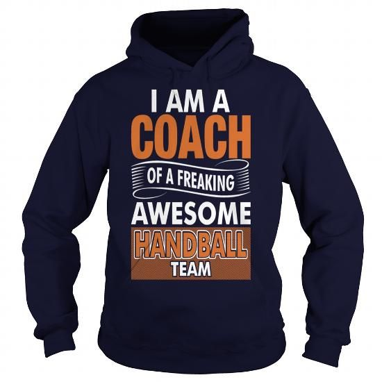 Coach Of Freaking Awesome Handball Team Gift Shirt - Mens Premium T-Shirt  LIMITED TIME ONLY. ORDER NOW if you like, Item Not Sold Anywhere Else. Amazing for you or gift for your family members and your friends. Thank you! #handball #shirts
