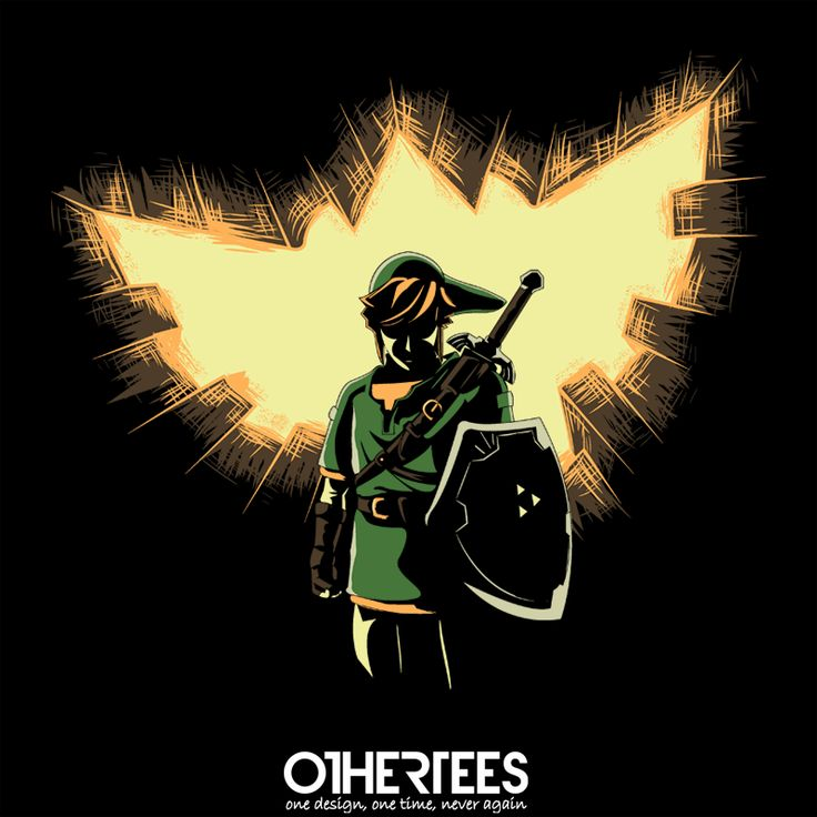 """""""Legend Rises"""" by piercek25 Shirt on sale until 28 May on othertees.com  Pin it for a chance at a FREE TEE! #loz #nintendo #gameboy Weekly free tee winners are now live at http://www.othertees.com/othertees/win_free_tees/"""