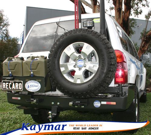 Kaymar Rear Bars, Spare Wheel Carriers, Jerrycan Holders & Accessories GU Patrol