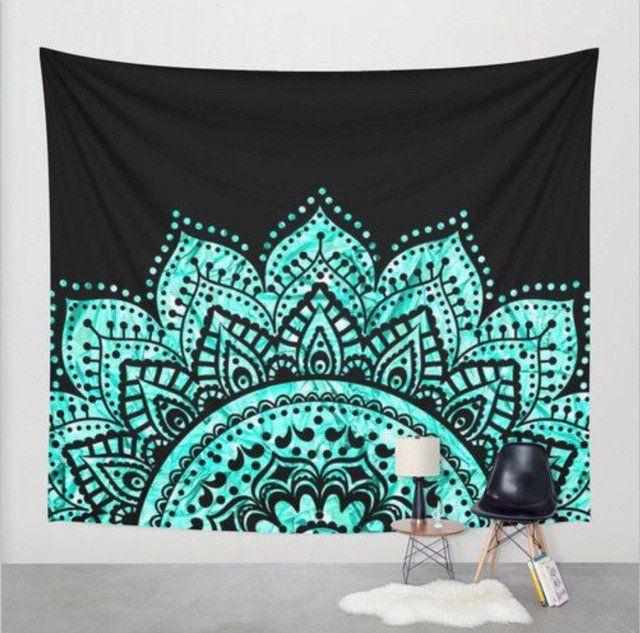 Peeking Mandala Tapestry