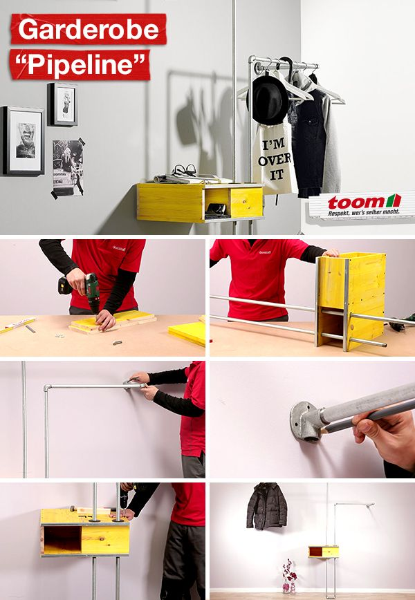 Garderobe Pipeline Garderobe Ideen Wandscheibe Garderobe