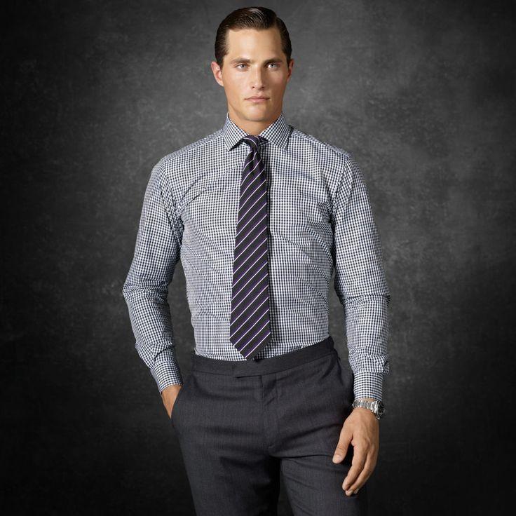 Aston Gingham Shirt - Classic-Fit  Dress Shirts - RalphLauren.com.  450 purple label