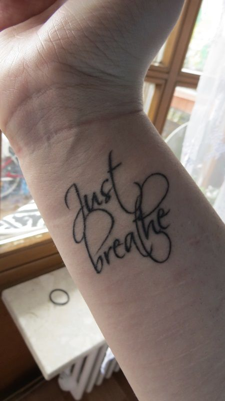 Best 25 just breathe tattoo ideas on pinterest colon for Tattoos over self harm scars pictures
