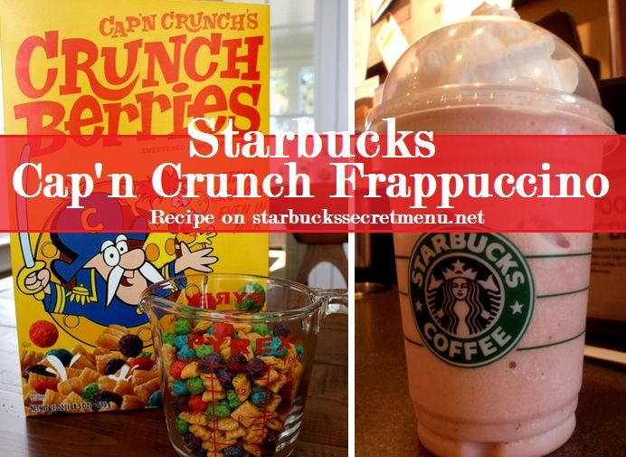 Starbucks Secret Menu Cap'n Crunch Berries Frappuccino! Recipe here: http://starbuckssecretmenu.net/starbucks-secret-menu-captain-crunch-frappuccino/