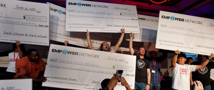 Another shot from the Atlanta, GA event for Empower Network.  This was quite a party as you can see.  Yeah, those are the actual amounts earned on those checks.