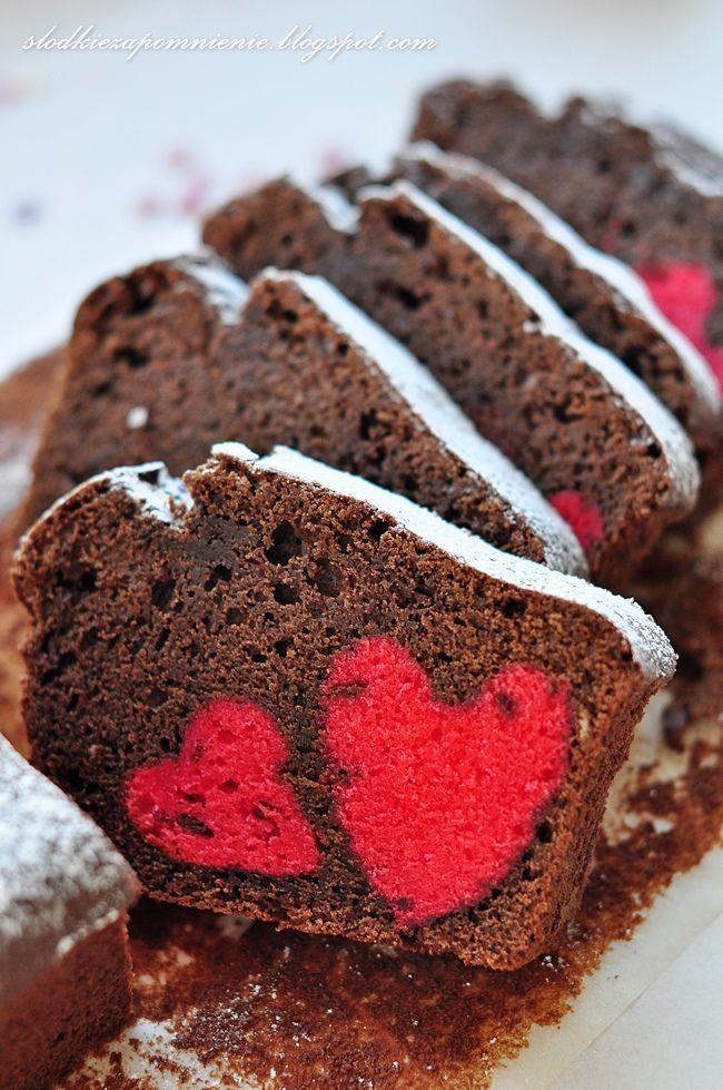ciasto czekoladowe walentynkowe,