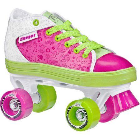 Zinger Girl's Roller Skates, White