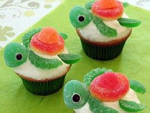 "Sea Turtle Cupcakes - Great for an ""Ocean"" party.."