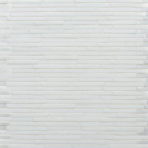 skinny tiles in white glass