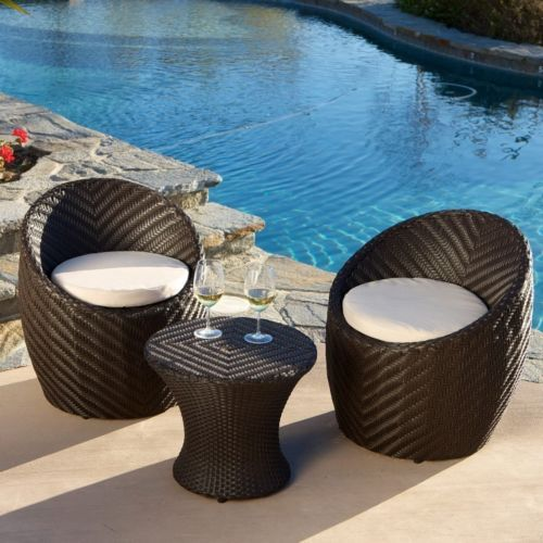 Outdoor Patio Furniture Deals Whitney 3 Piece Wicker Bistro Sturdy Aluminum  Set