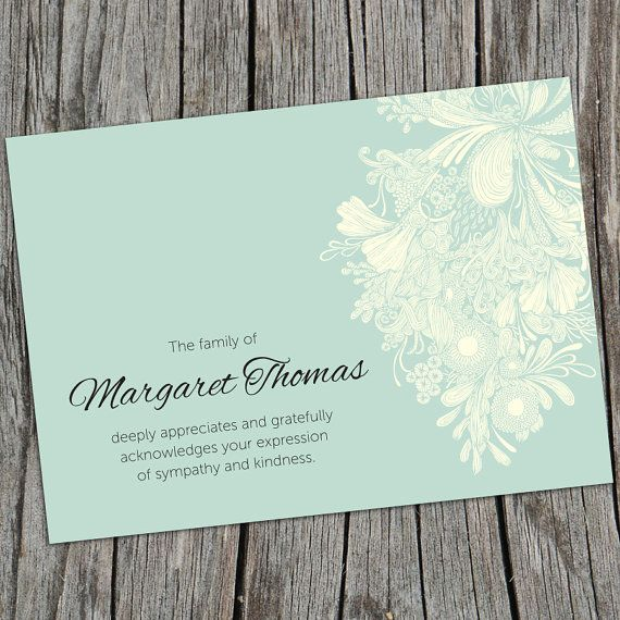 The 25 best Funeral thank you cards ideas – Memorial Service Invitation Sample