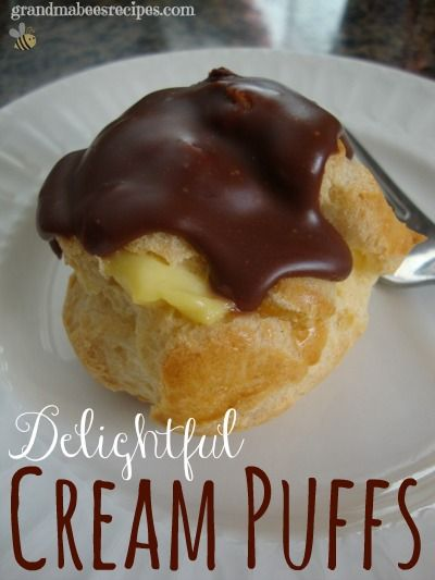 // // Is there anybody you know who doesn't like cream puffs? I mean, what's not to like about them? They are light and fluffy and filled with a custard-y pudding (or other delicious filling) and t...
