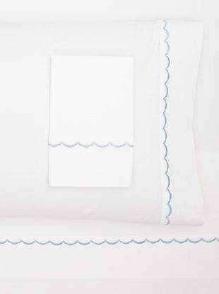 55% OFF Westport Linens Scalloped Sheet Set (Blue)
