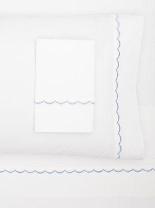 55% OFF Westport Linens Scalloped Sheet Set (Blue)