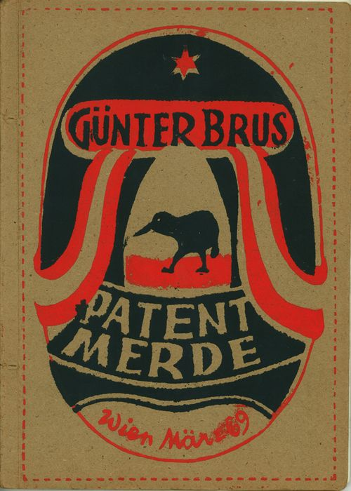 """Günter Brus """"Patent Merde"""" 1969. saw this in a museum today, the left side was especially nice (too bad I can't find it)"""