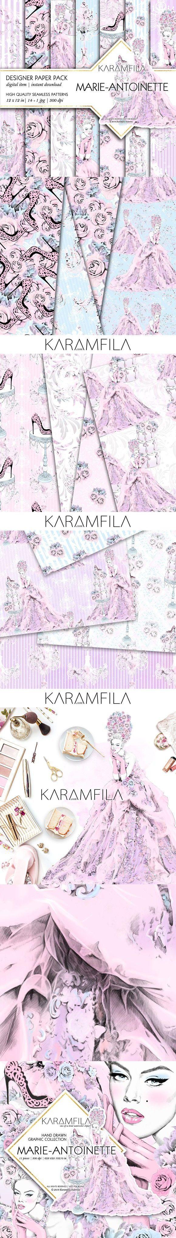 Marie-Antoinette Patterns. Wedding Card Templates