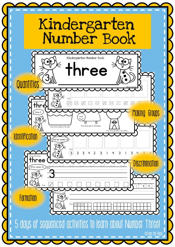 Kindergarten Number Book - FREE